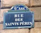 Rue des Saints Pères